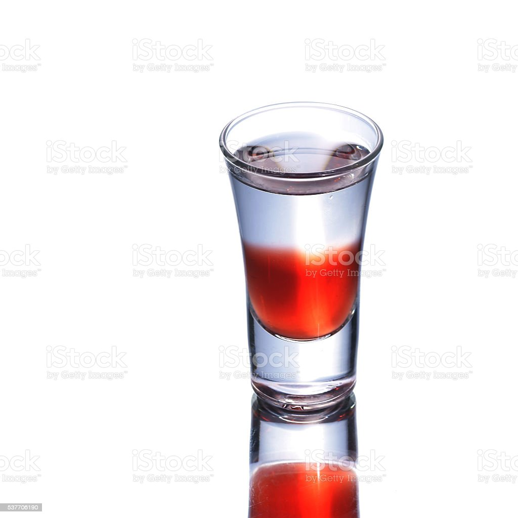 colorful shooter with reflection stock photo