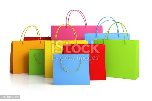 istock Colorful shopping bags 604343262