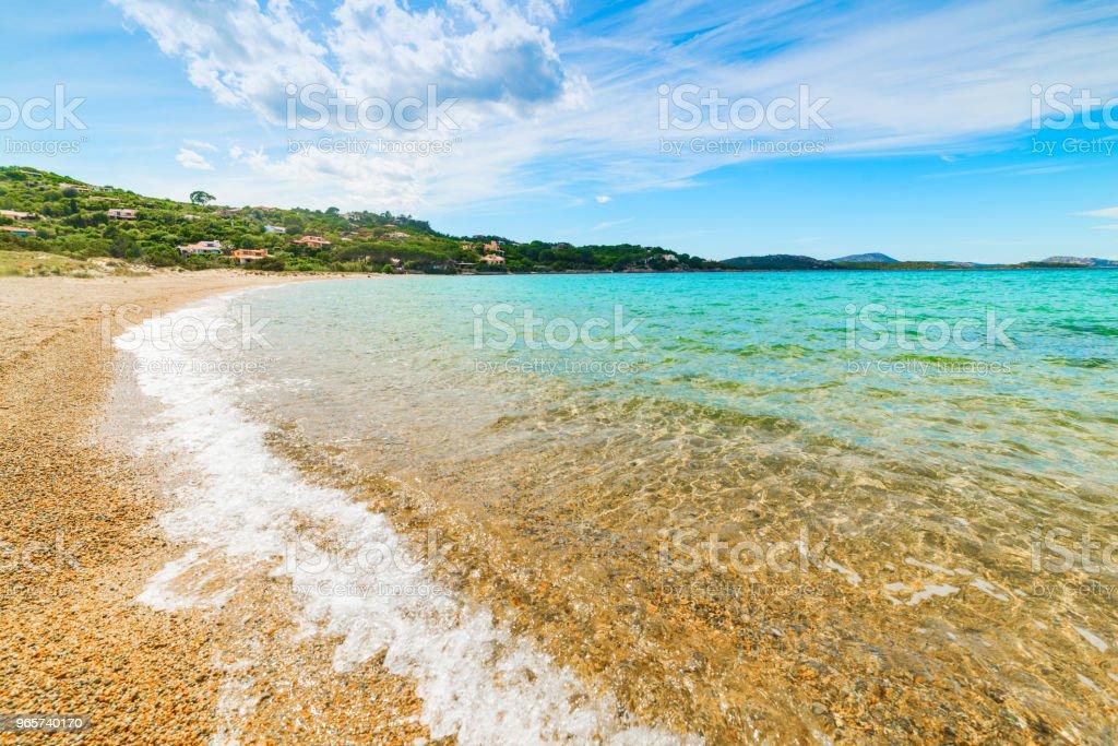 Kleurrijke wal in Cala Girgolu in Costa Smeralda - Royalty-free Blauw Stockfoto