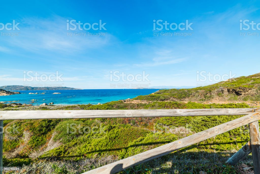 Colorful shore in La Maddalena - Royalty-free Beach Stock Photo