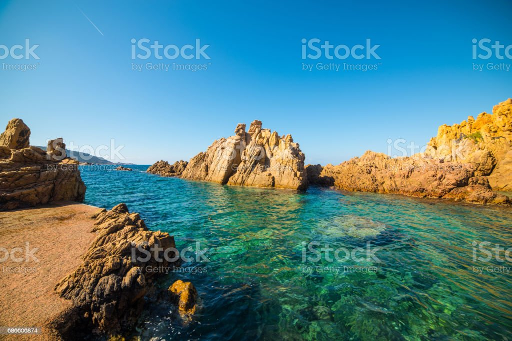 Colorful shore in Sardinia royalty-free stock photo