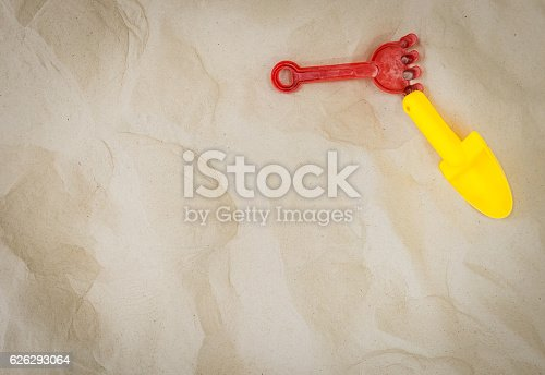 istock Colorful shovel playground for education with copy space 626293064