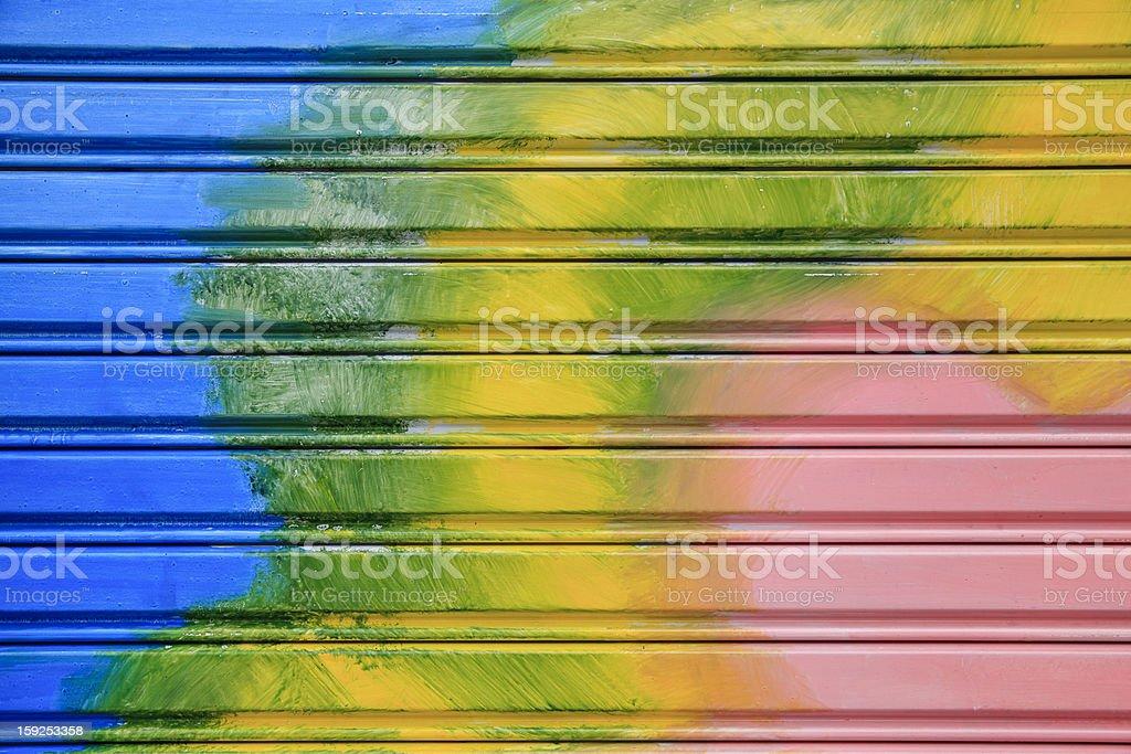 Colorful shutter steel door texture royalty-free stock photo