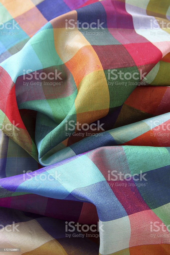 Colorful silk stock photo