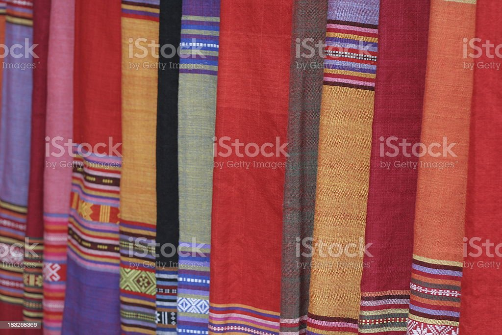 Colorful Silk royalty-free stock photo
