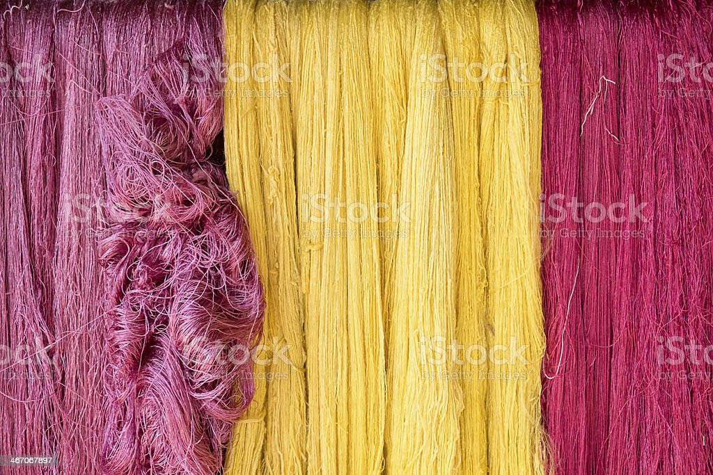 Colorful Silk Thread stock photo