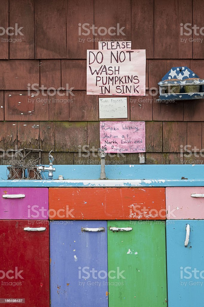 Colorful Sink Cabinets royalty-free stock photo