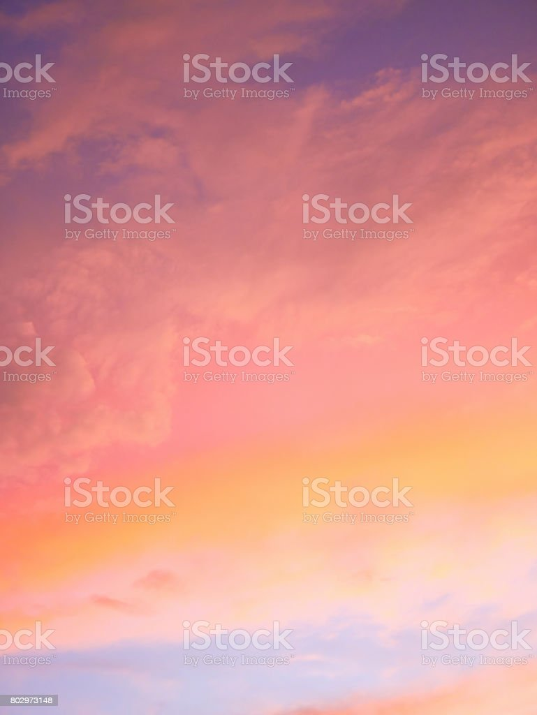 Colorful skies in evening stock photo
