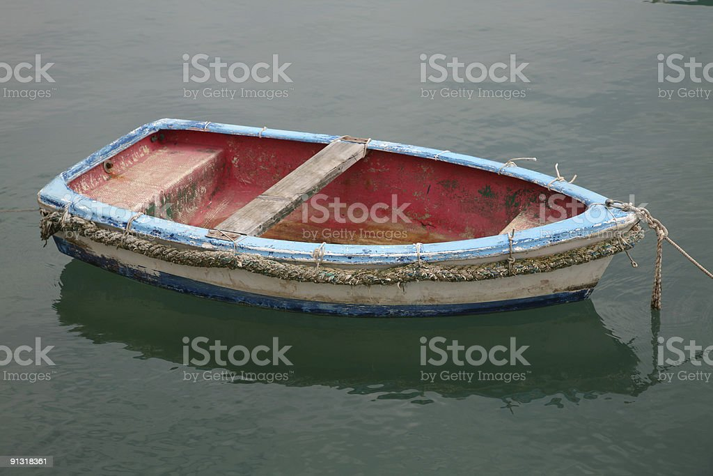Colorful skiff royalty-free stock photo