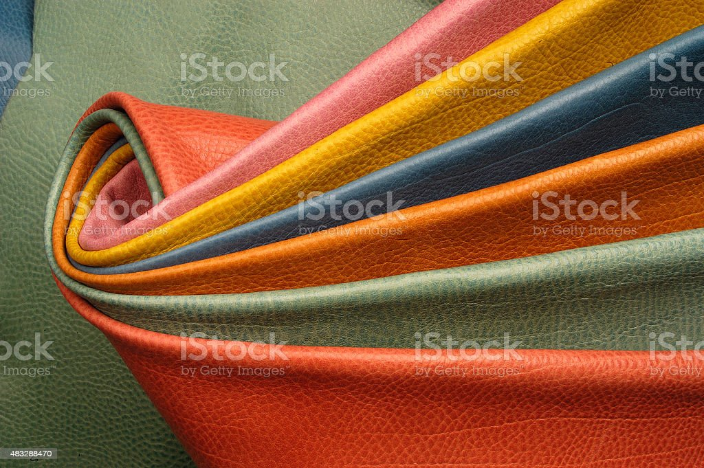 colorful skins sample stock photo