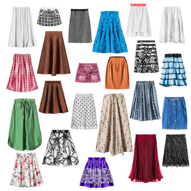 bunte röcke isoliert - spitzen maxi stock-fotos und bilder