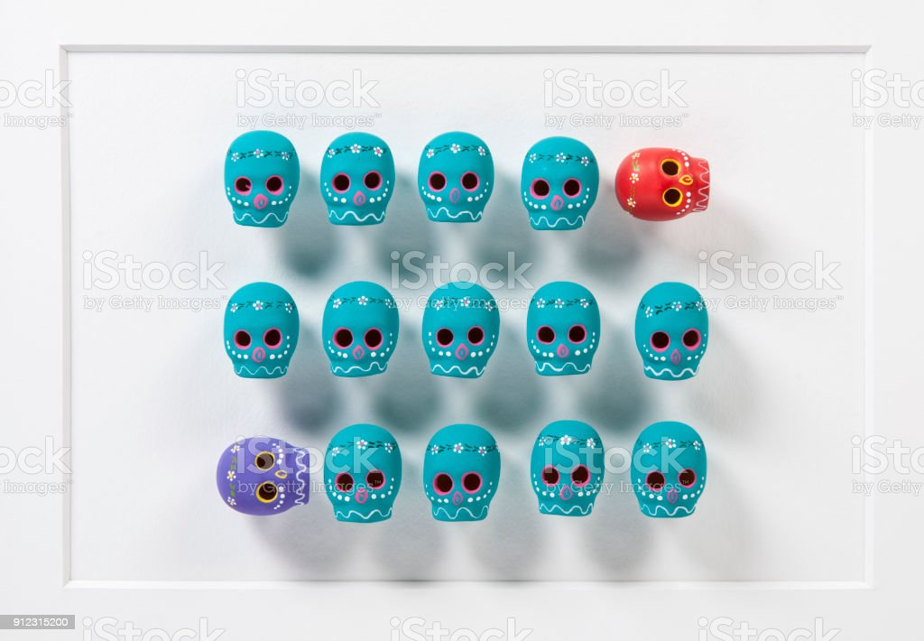 Colorful Skulls stock photo