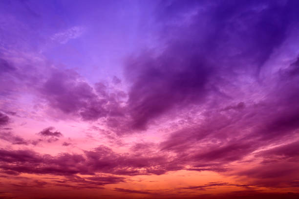 Colorful sky and cloud in twilight background Colorful sky and cloud in twilight background as texture horizon over land stock pictures, royalty-free photos & images