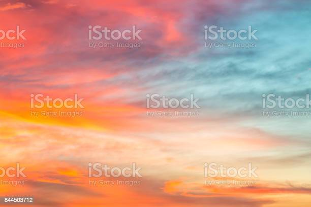 Photo of Colorful sky background in twilight.