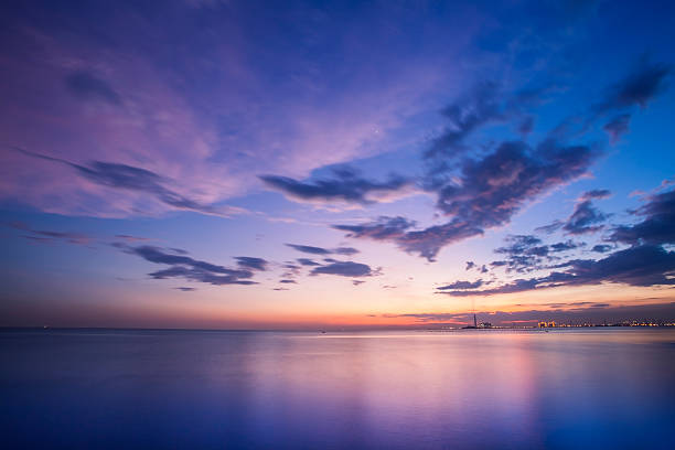 colorful sky - twilight stock photos and pictures