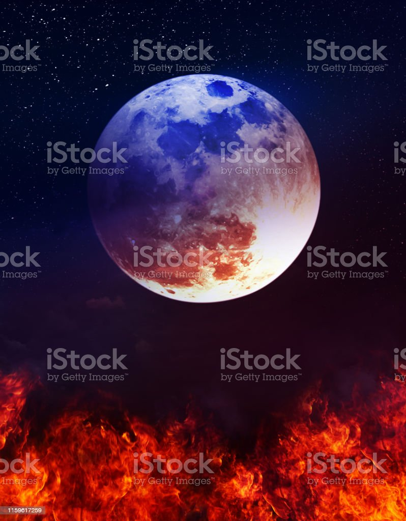 Photo Manipulation. Colorful skyscape with many stars. Landscape of...
