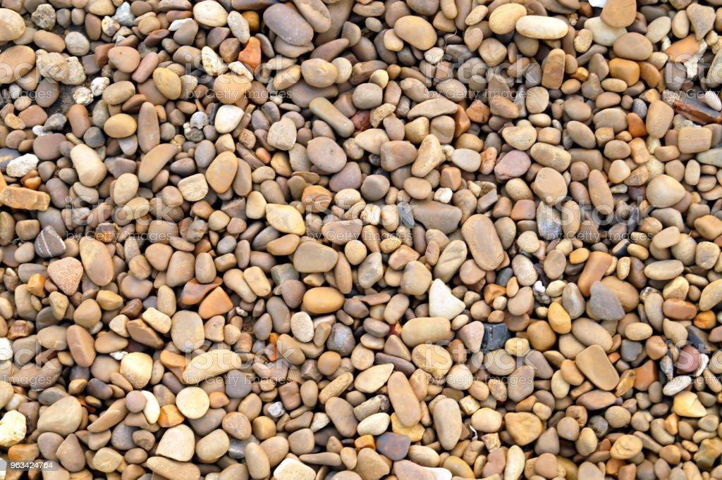 Färgglada små sten och sten för bakgrundsstruktur - Royaltyfri Abstrakt Bildbanksbilder