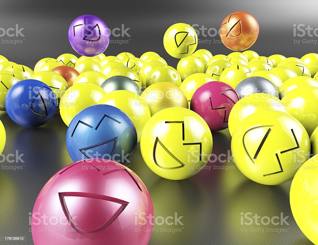 Colorful smiley face royalty-free stock photo
