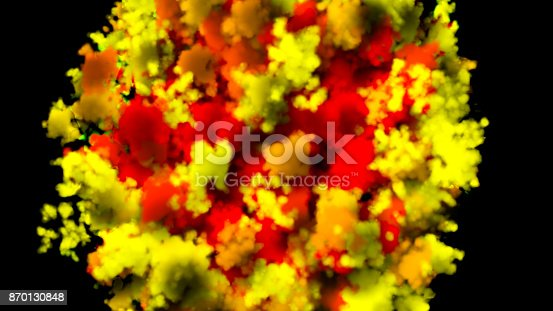 istock colorful smoke on black background 870130848