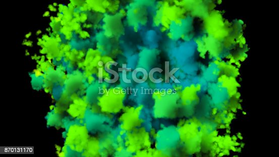 istock colorful smoke on black background 870131170