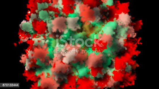 istock colorful smoke on black background 870133444