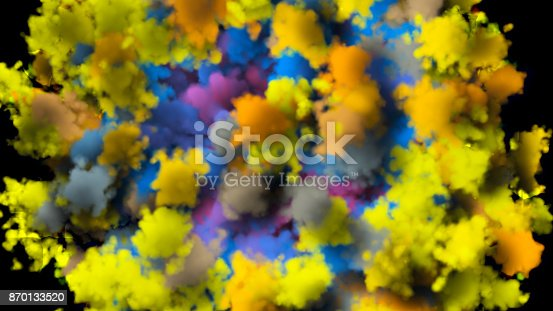 istock colorful smoke on black background 870133520