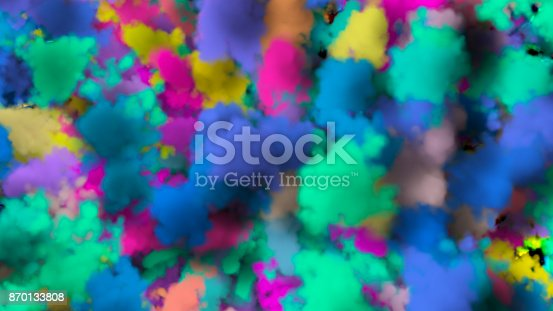 istock colorful smoke on black background 870133808