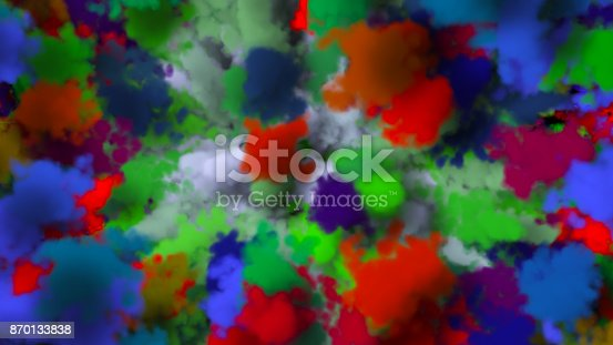 istock colorful smoke on black background 870133838