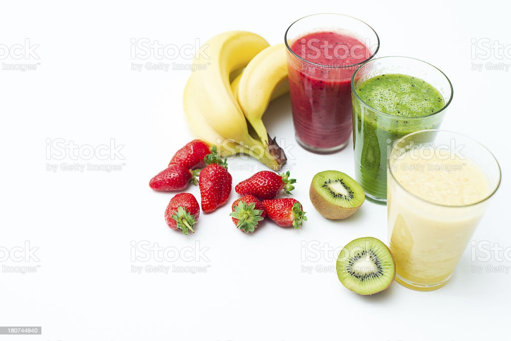 Colorful smoothies royalty-free stock photo