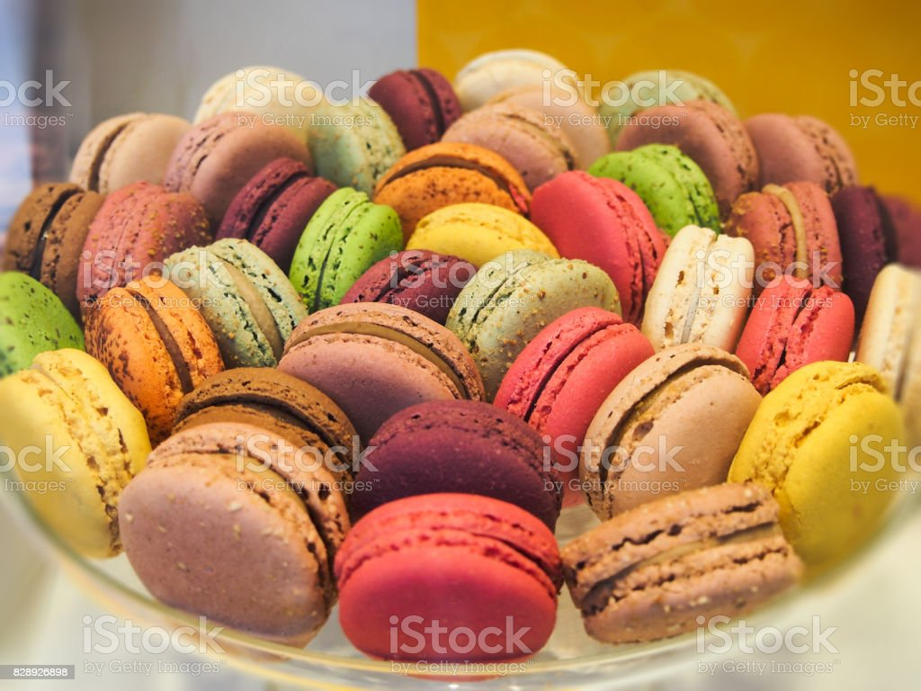 Colorful snack cookies and cake stock photo