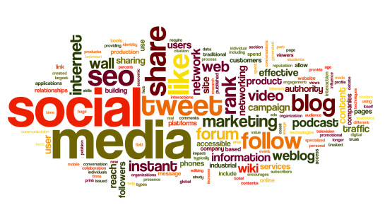 Colorful Social Media Concept In A Word Tag Cloud Stock Photo - Download Image Now