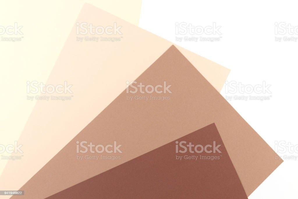 Bunte Soft Braun Beige Gelb Und Weiß Papier Hintergrund Stockfoto