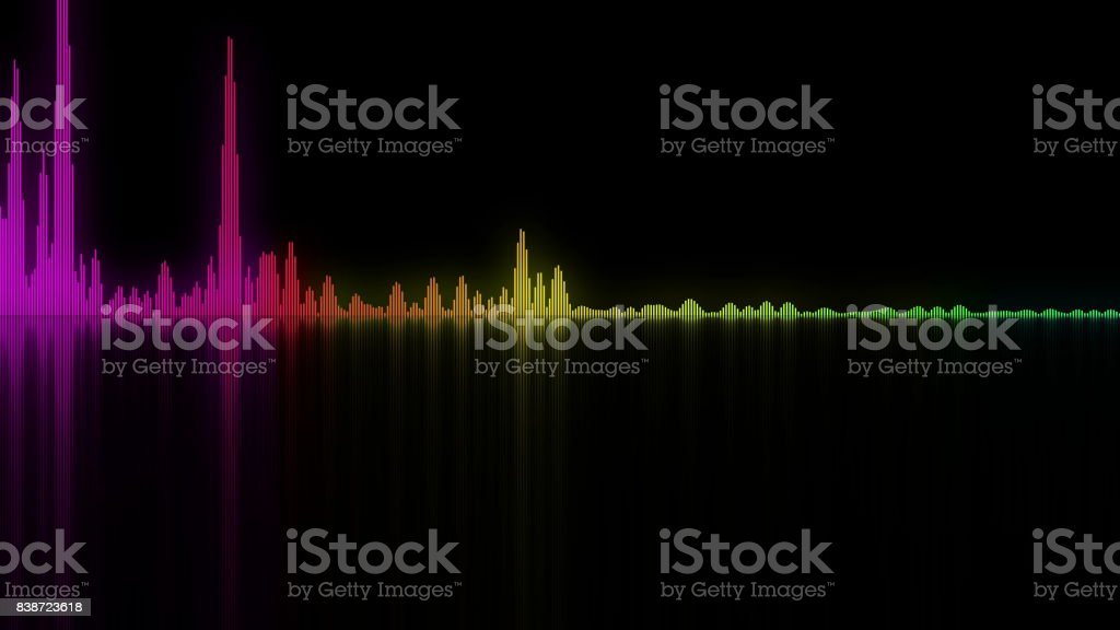 Colorful sound waves. background for audio concepts stock photo