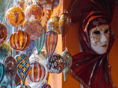 Colorful souvenirs from the famous murano glass