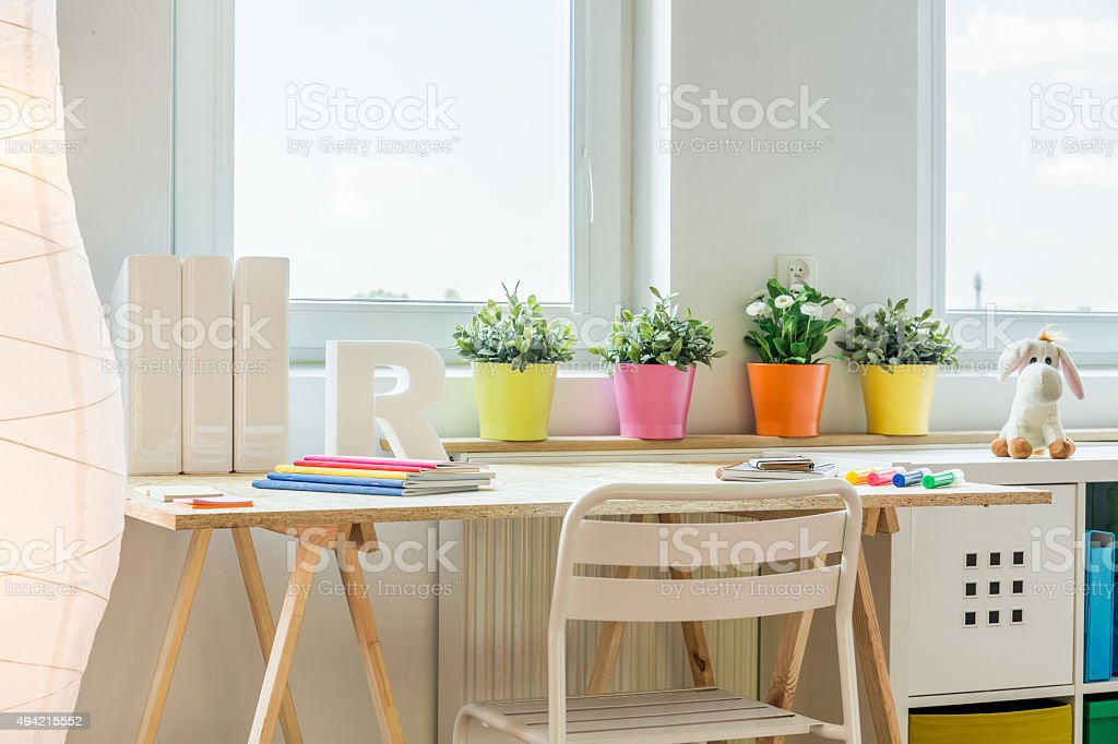 Colorful space for learning stock photo