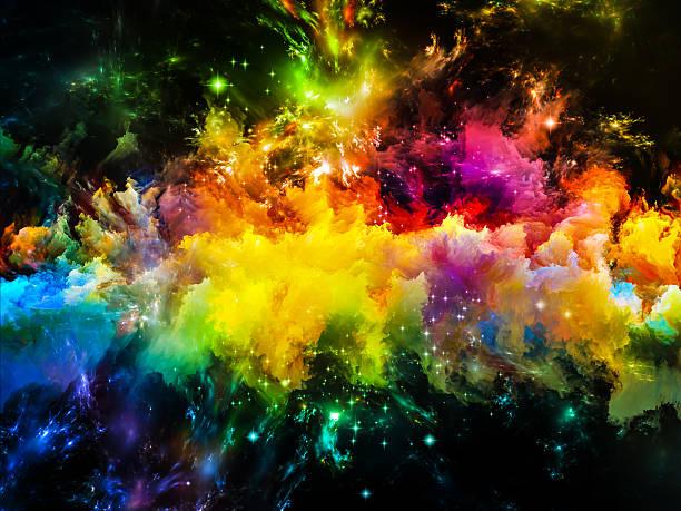 Espaço colorido - foto de acervo
