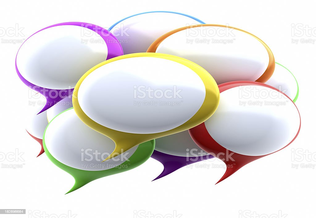 Colorful Speech bubbles royalty-free stock photo