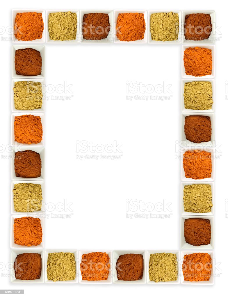Colorful Spices Food Page Border Stock Photo 136911731 Istock Colorful Page Border