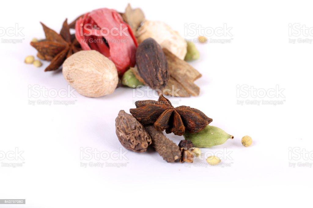 Fargstarka Kryddor Garam Masala Indisk Ingredienser For Garam Masala Indiska Kryddor Foton Och Fler Bilder Pa Abstrakt Istock