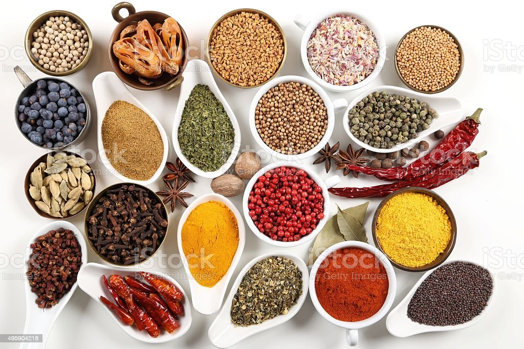 Colorful spices. stock photo