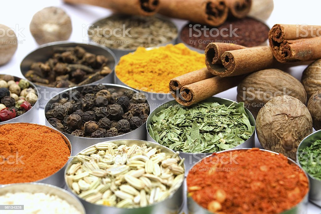 Colorful spices royalty-free stock photo