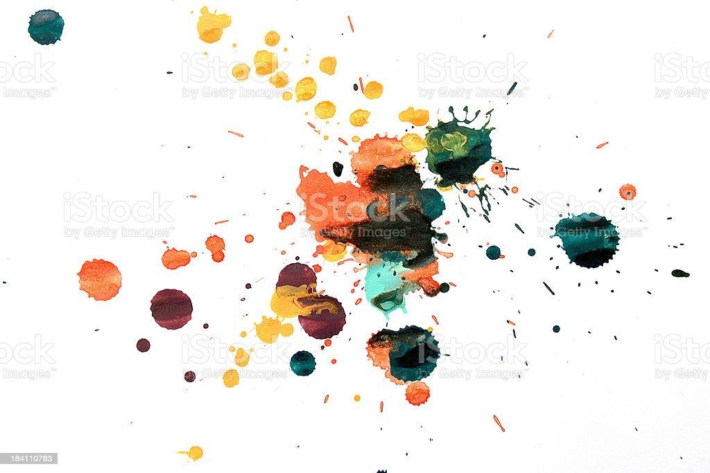 Colorful Splash Paint royalty-free stock photo
