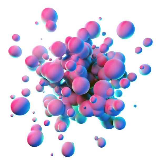 kleurrijke splash vormen geïsoleerd op witte achtergrond - bel vloeistof stockfoto's en -beelden