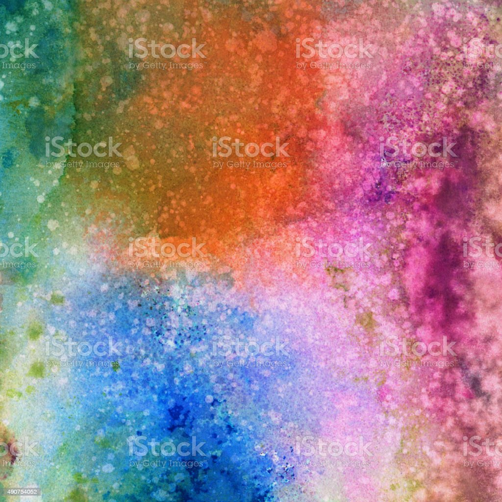 Colorful Splatters And Textures Of Paint In Many Colors Stock Photo