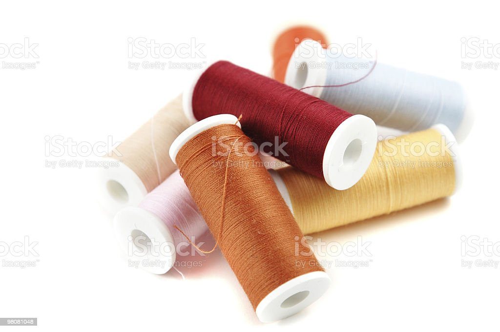 Colorful Spools royalty-free stock photo