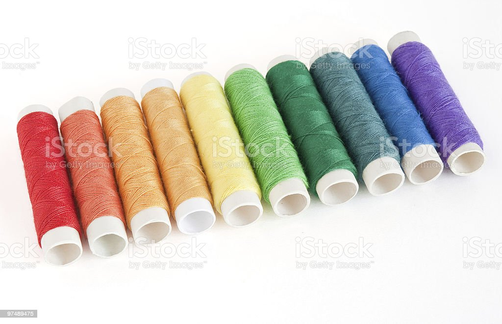 colorful spools threads royalty-free stock photo