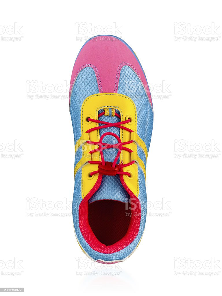 Colorful sport shoe isolated stock photo