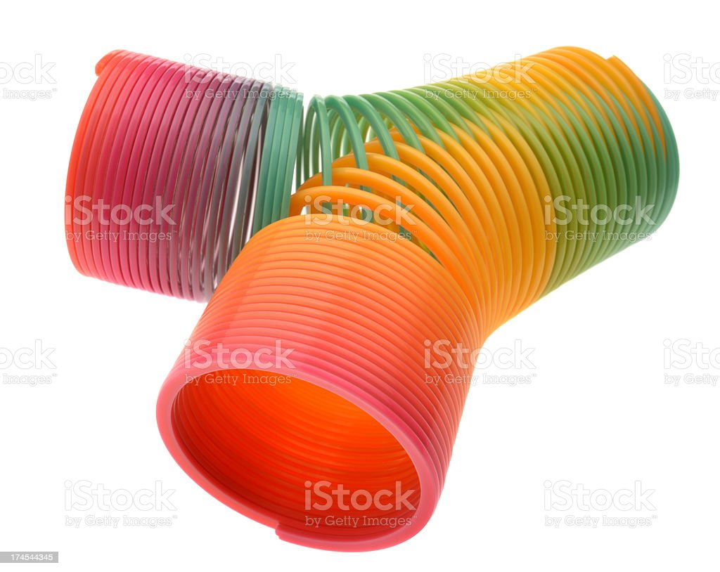 Colorful Spring Toys Meshing Together royalty-free stock photo