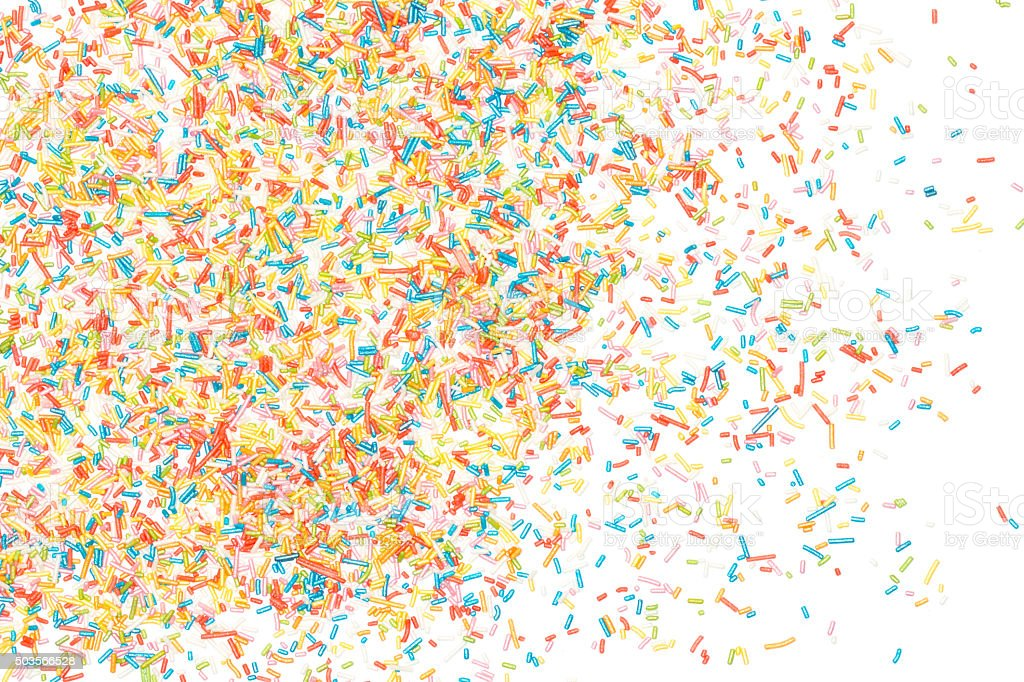 Colorful sprinkles stock photo