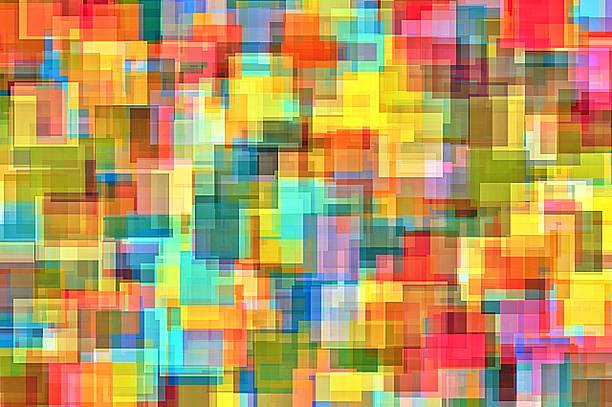 colorful square abstract stock photo